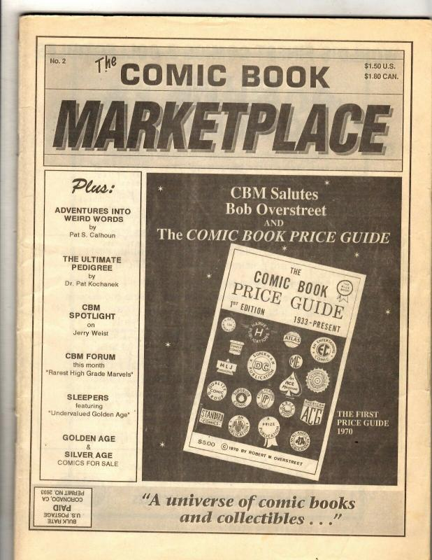 The Comic Book Marketplace # 2 Overstreet Magazine Price Guide FM7