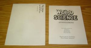 Weird Science Annotations VF/NM with envelope - ec comics - mark evanier RARE