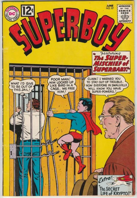 Superboy #97 (Jun-62) VF+ High-Grade Superboy