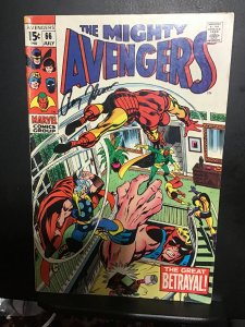 The Avengers #66 (1969) Signed Roy Thomas with certificate! Barry Smith,  Ultron