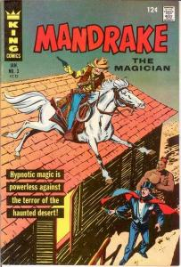 MANDRAKE THE MAGICIAN 3 VF PHANTOM BACK UP COMICS BOOK