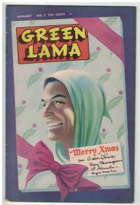 GREEN LAMA (1944-1946 SPARK) 7 VG+  Jan 1946 X Mas COMICS BOOK