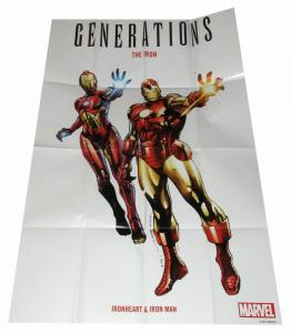 Generations Iron Heart Iron Man Folded Promo Poster (36 x 24) - New!