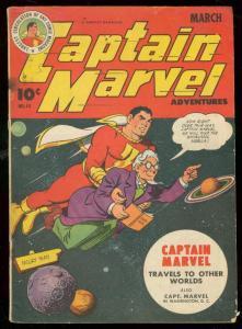 CAPTAIN MARVEL ADVENTURES #44 1945-FAWCETT MR MIND RARE-very good minus VG-