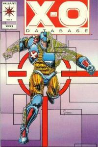 X-O Manowar (1992 series) Database #1, VF+ (Stock photo)