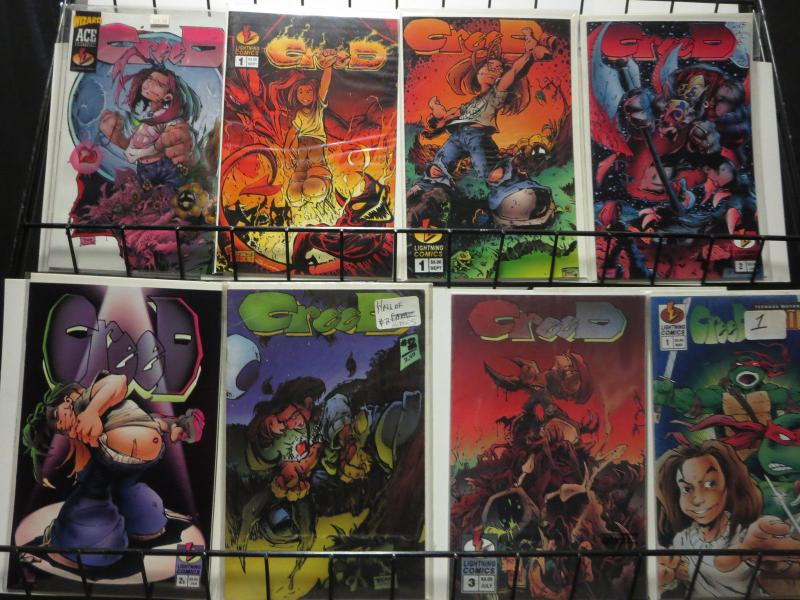 CREED COMICS 8 diff Lightning Wizard Turtles Card included VF-NM