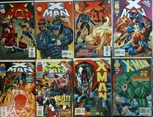 X MAN (1995)MARVEL #6,9,10,12,17,18,19,20 NM CONDITION 8 BOOK LOT