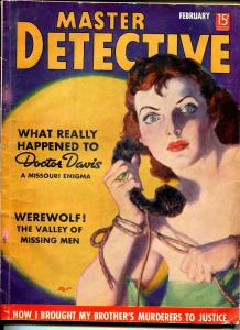 Master Detective 2/1938-vivid Dalton Stevens cover-violent crime-pulp thrills-VG