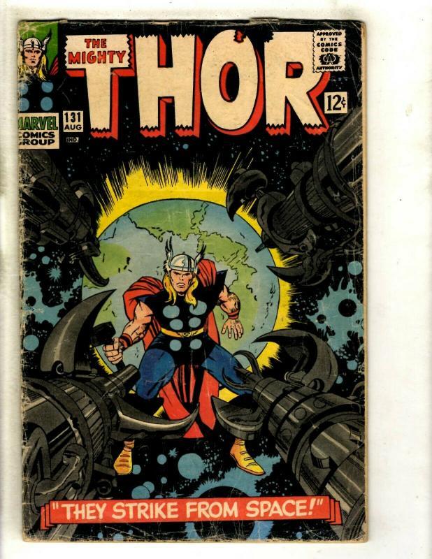 Thor # 131 VG- Marvel Comic Book Loki Odin Sif Avengers Hulk Iron Man GK4