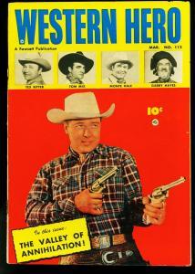 Western Hero Comics #112 1952- Fawcett- Tom Mix- Monte Hall- VF
