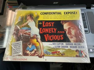 Confidential Expose 1990 Calendar Lost Lonely and Vicious