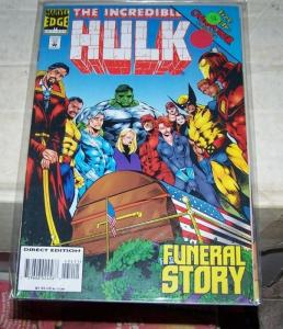 Incredible Hulk  # 434 (Oct 1995, Marvel) NICK FURYS FUNERAL PUNISHER WOLVERINE