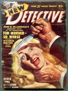 New Detective Pulp November 1950- John D MacDonald-Cornell Woolrich