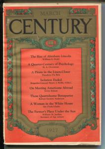 Century Illustrated Monthly Magazine 3/1927-historic Abe Lincoln-VG-