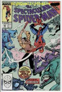 Peter Parker SPECTACULAR SPIDER-MAN #147 NM-, Inferno 1976 1989 more in store