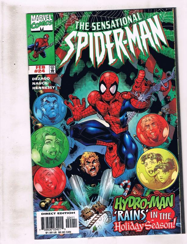 Lot of 5 The Sensational Spider-Man Marvel Comic Books #24 25 28 29 30 AH10