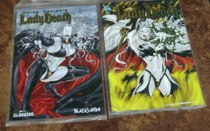 Lot/2 Lady Death #1/2 Gold #1 Annual Gold VF/NM Sealed Avatar Comic Books W/COA