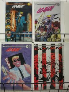 GO MAN 1-4  Bill Widener's cyberpunk superhero & tv sta