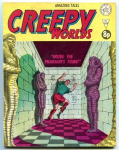 CREEPY WORLDS #143 EGYPTOLOGY COVER HORROR VG