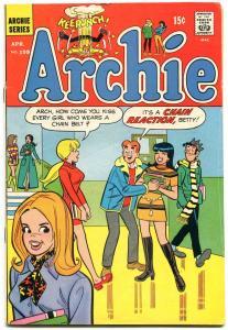 Archie #199 1970-Betty-Veronica-Jughead- chain belt gag cover VG