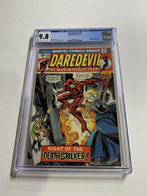 Daredevil 115 Cgc 9.8 Ow/w Pages Marvel Bronze Age RARE
