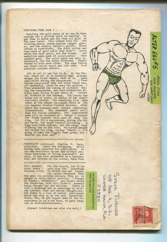 ALTER EGO #6 1962-JOE KUBERT-RONN FOSS-ALLEY AWRDS-ROY THOMAS-JERRY BAILS-vg-