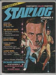 STARLOG MAGAZINE #4 VG/F A04845