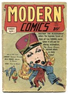 Modern Comics #94 1950- BLACKHAWK- missing centerfold