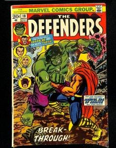 Defenders #10 Thor Vs Incredible Hulk!