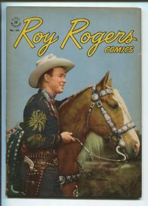 ROY ROGERS FOUR COLOR #144 1947-DELL-EARLY ROY ROGERS ISSUE-PHOTO COVERS-vf+