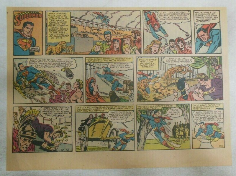 Superman Sunday Page #1159 by Wayne Boring from 12/31/1961 Size ~11 x 15 inches