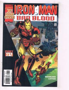 4 Iron Man Bad Blood Marvel Comic Books #1 2 3 4 Tony Stark BH16