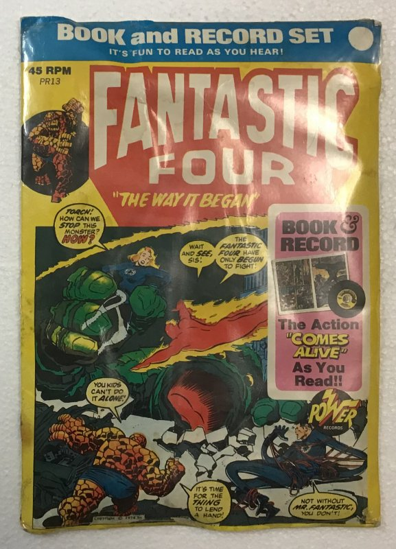 Fantastic Four: The Way It Began Book and Record Set PR13