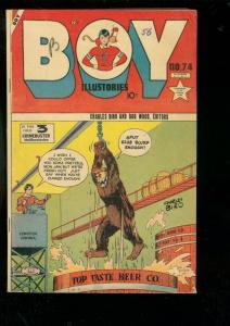 BOY COMICS #74 1952-CHARLES BIRO-IRON JAW-BEER COVER VG