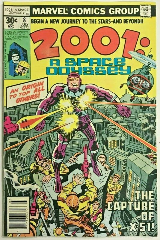2001 A SPACE ODYSSEY#8 F/VF 1977 FIRST MACHINE MAN MARVEL BRONZE AGE COMICS