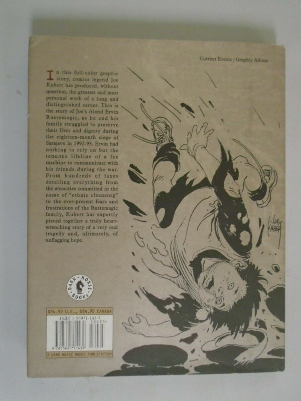 Fax From Sarajevo HC #1 A Story of Survival 6.0 FN (1996 Dark Horse)