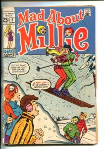 MAD ABOUT MILLIE #2-1952-MARVEL-SNOW SKI COVER-FASHION PAGES-good/vg