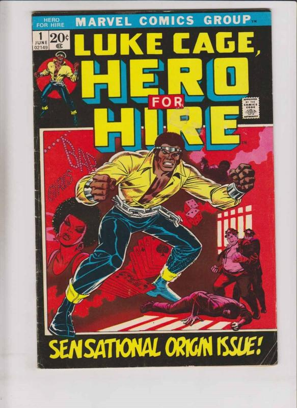 Hero For Hire #1 VG luke cage - power man - archie goodwin - afrocentric marvel