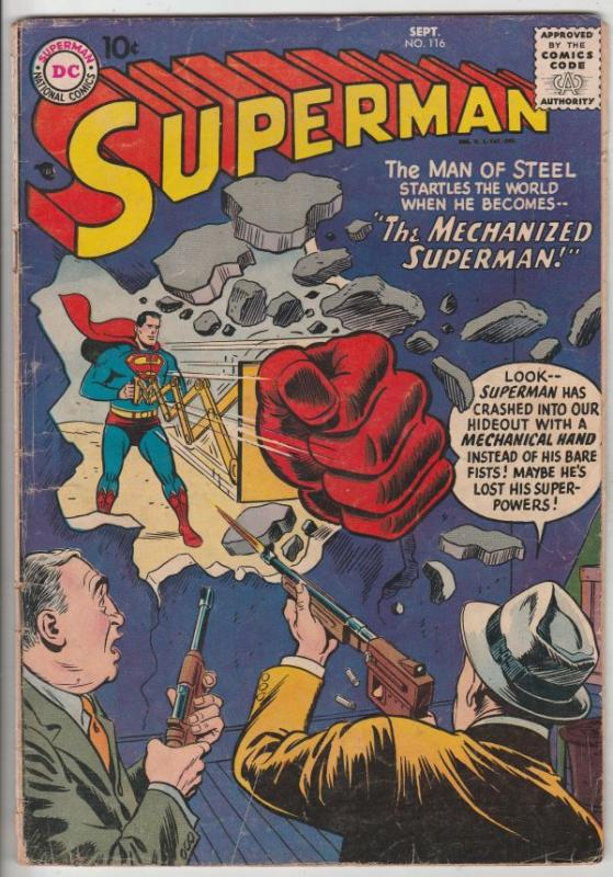 Superman #116 (Sep-57) VG Affordable-Grade Superman