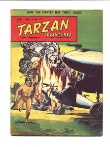 TARZAN ADVENTURES 8 #25-1958-SEPTEMBER-AIRPLANE ON FIRE VG
