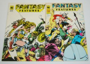 Fantasy Features #1-2 VG/FN complete series - sword & sorcery - dell barras set