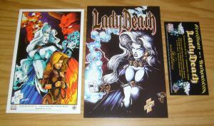 Lady Death II: Between Heaven & Hell #1 VF/NM commemorative edition + print+COA
