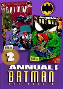 THE BATMAN ADVENTURES ANNUAL #1 & #2 ('94, '95) 9.0 VF/NM  Bruce Timm, Paul Dini