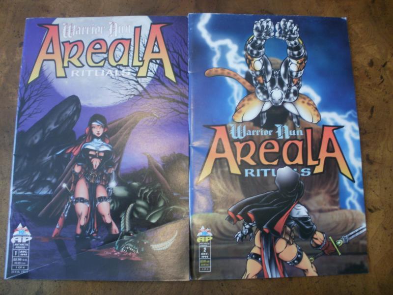 Warrior Nun Areala Rituals #1 #2 (Antarctic Press) 1995