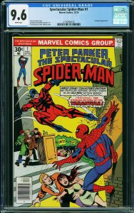 THE SPECTACULAR SPIDER-MAN #1 (CGC 9.6) High Grade MARVEL Classic!