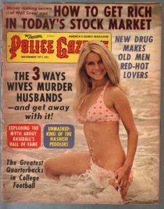 National Police Gazette 11/1971-swimsuit pin-up cover-hashish-NCAA-G