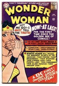WONDER WOMAN #159 Origin issue-DC comic book G