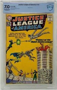 Justice League of America #13 CBCS 7.0 DC Comics 1962. Speedy Appearance.