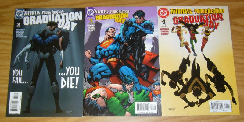 Titans/Young Justice: Graduation Day #1-3 VF- complete series 1st indigo/shift