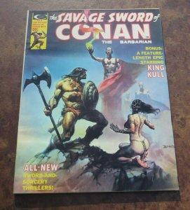 The Savage Sword of Conan The Barbarian #9 FN 1975 Comic Magazine Sorcery